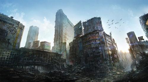 Tokyo Ruins in concept art