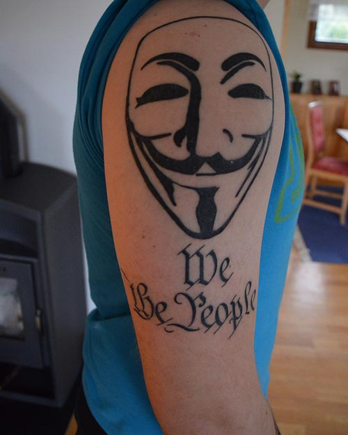 Guy Fawkes, we the people