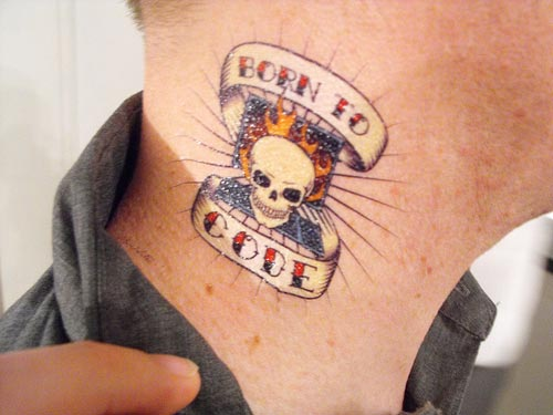 Badass Neck Tattoo