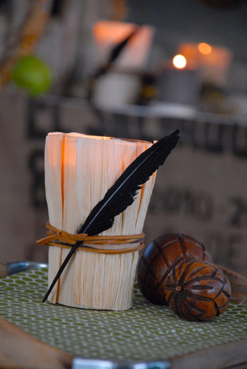 Corn Husk Candle Covers