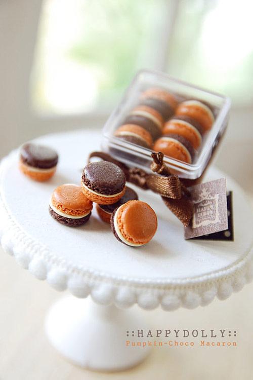 Sweets Miniature - Pumpkin-Choco Macaron Box