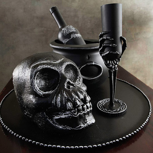 Chalked Skeleton Centerpiece