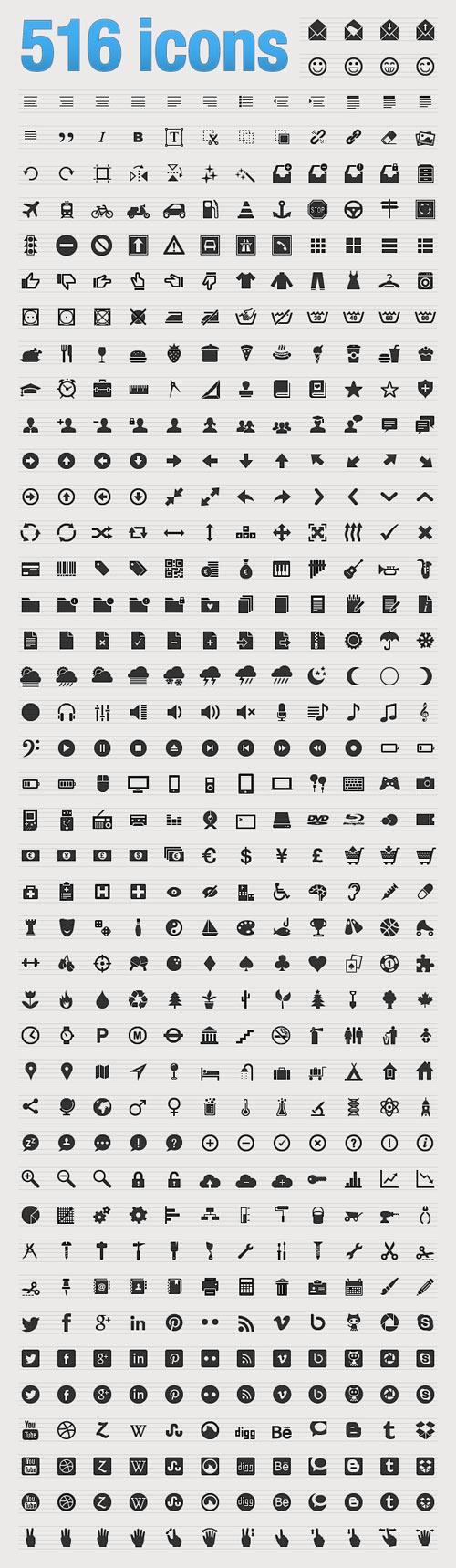 516 icons