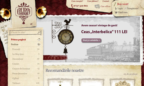 retro and vintage in web design