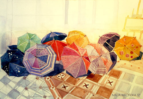 Rainy Day - watercolor paintings