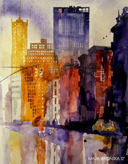 New York - watercolor paintings