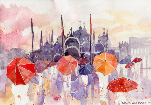 San Marco - watercolor paintings