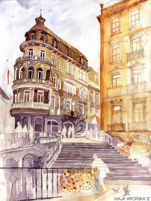 Porto - watercolor paintings