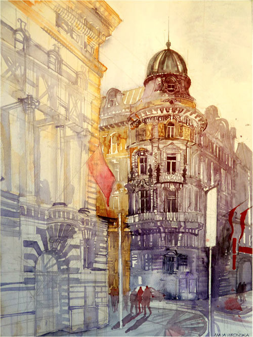 Vienna - watercolor paintings
