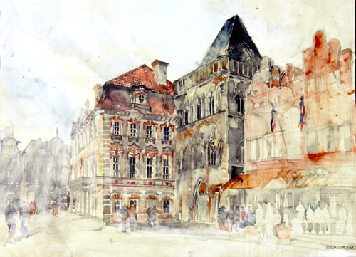 Summer Trip to Prague - watercolor paintings
