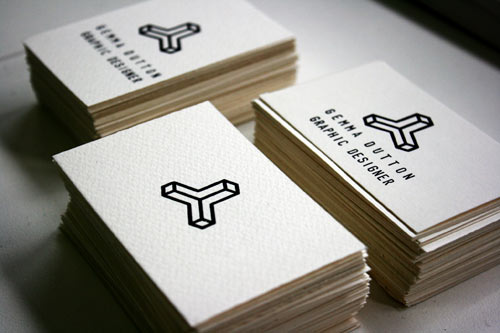 white business card designs