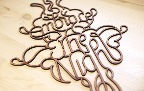 Embrace the Night - Typography Design Inspiration