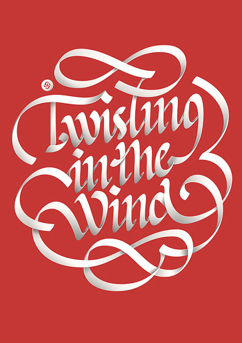 Twisting in the Wind - Typography Design Inspiration