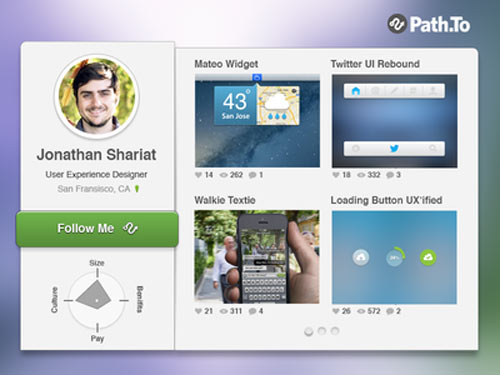Path.to Profile Widget [Free PSD]