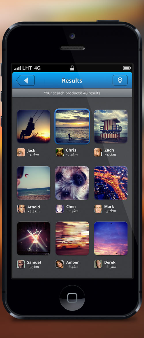 Photo Social Network - iPhone App - Free PSDs