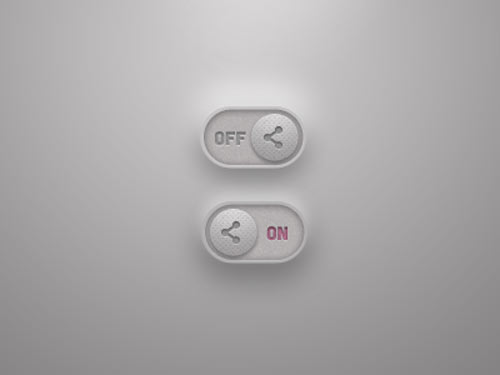 Toggle Switch Free PSD