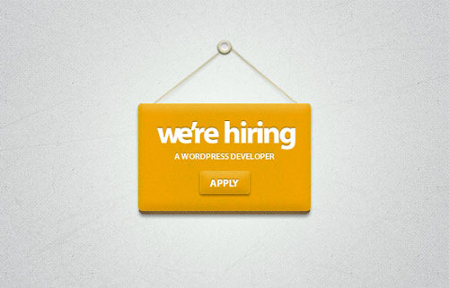 We're Hiring Badge (PSD)