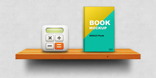 Wooden Shelf Display Mockup (PSD)