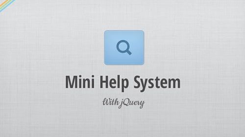 Mini Help System With Jquery