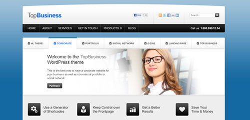 30 free psd website templates boost inspiration topbusiness front and portfolio pages free psd pronofoot35fo Gallery