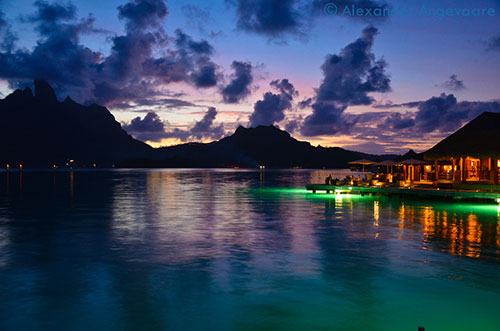 Bora Bora at Dusk