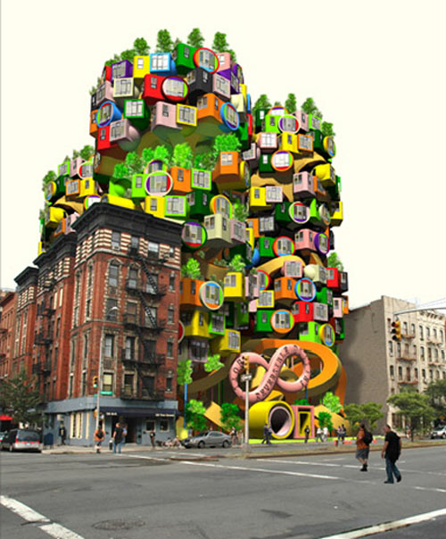 Ultra-colorful Pod Residences