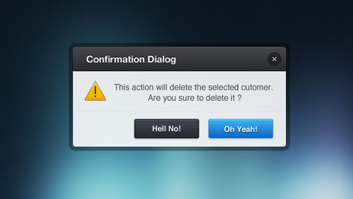 Confirmation Dialog PSD