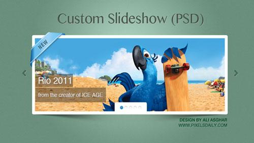 Custom jQuery Slideshow (PSD)