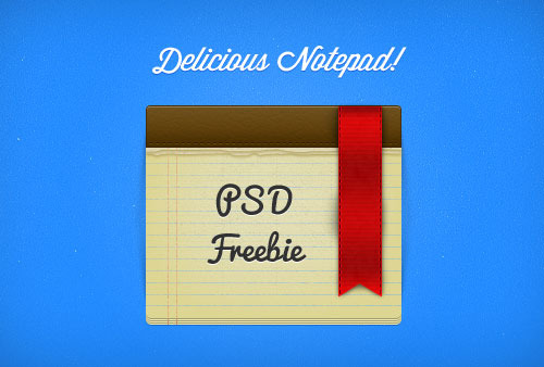Delicious Notepad & Ribbon PSD
