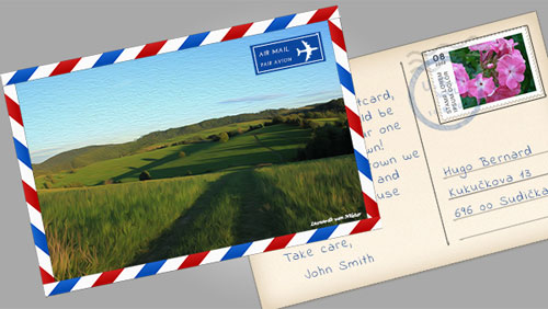 Postcards PSD