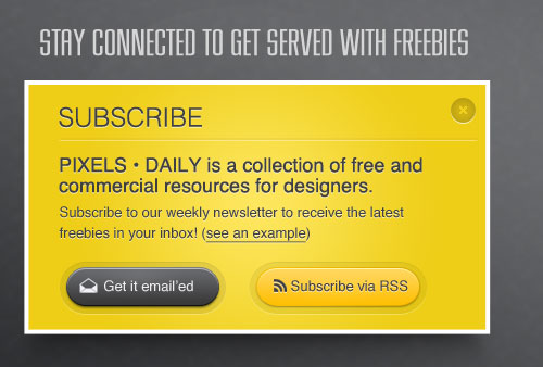 Yellow Subscribe Box PSD