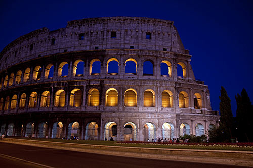 Colosseum During Blue Hour