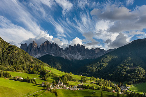 Santa Maddalena with Clouds