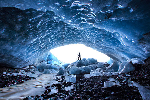 Exploring Ice Caves in Iceland