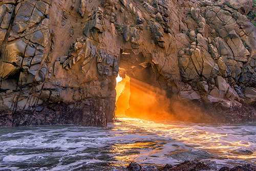 Golden Light in the Pfeiffer Arch