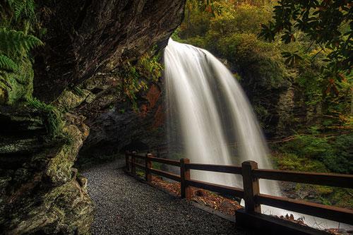 Under Dry Falls