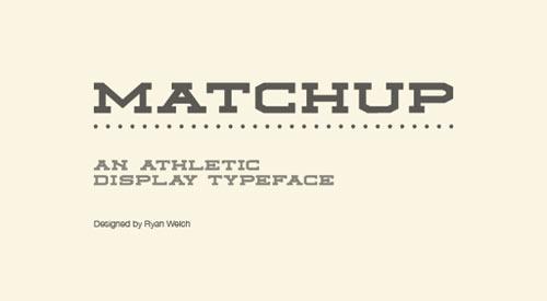 Matchup - Free Font