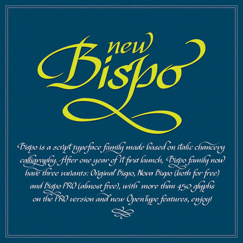 New Bispo - Free Font