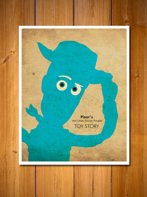 pixar movie character posters