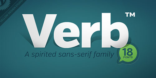 verb font for designers