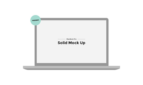 Mackbook Pro Solid Mock Up PSD