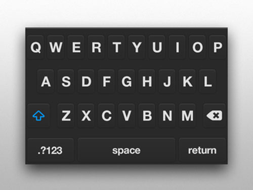 .PSD iOS Flat Keyboard