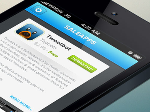 Saleapps | Free iOS UI PSD