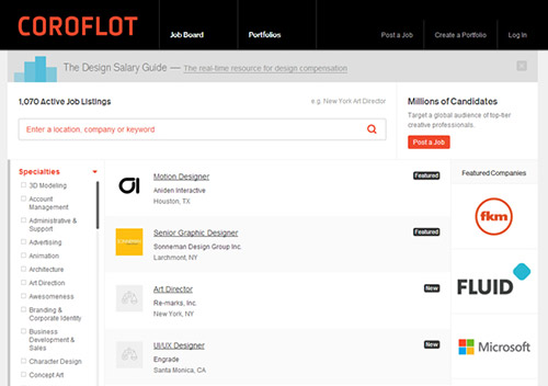 Coroflot JobBoard