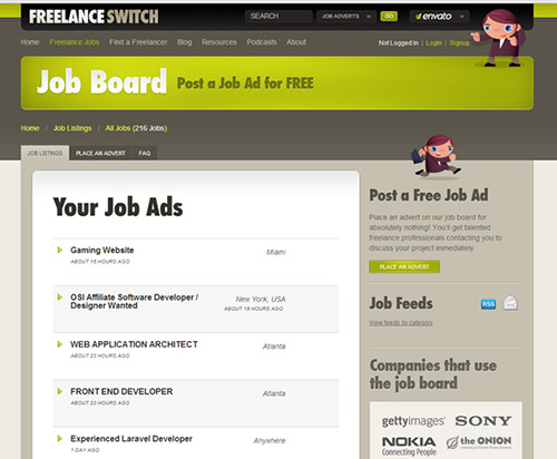 FreelanceSwitch Job-Board