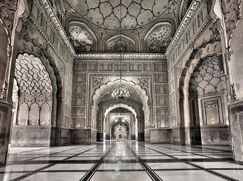 Inside Badshahi Masjid