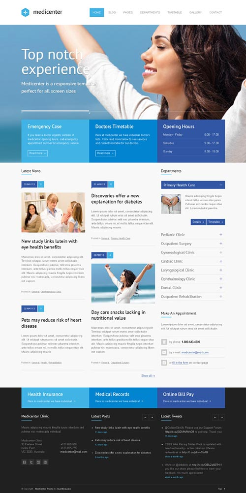 MediCenter WordPress Website
