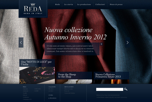 Reda Italian Wool Fabrics Corporate Website