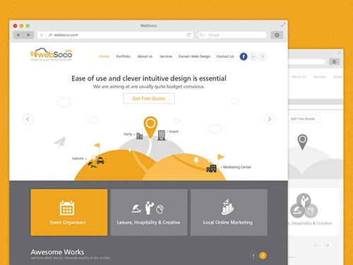 WebSoco Layout Design