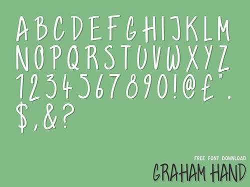 Graham Hand Free Font Download